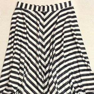 GAP Skirts - New Gap Full Skirt Blue White Stripe Sz L